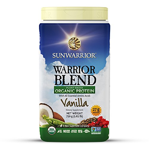 Sunwarrior - Warrior Blend, Raw, Plant Based, Organic Protein, Vanilla, 30 servings