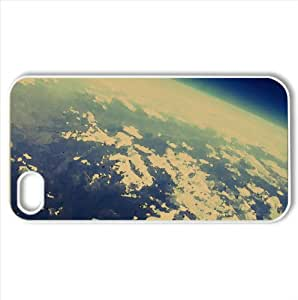 Over the Rocky Mountains Somewhere Above Montana or Wyoming Watercolor style Cover iPhone 4 and 4S Case