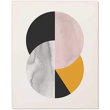 Abstract Circle, Mid Century Art Print, Mid Century Circle, Mid Century Wall Art, Geometric Print, Circle Print, Watercolor Print, Circle Art Print, Circle Art, Wall Print, Midcentury Modern, 8x10