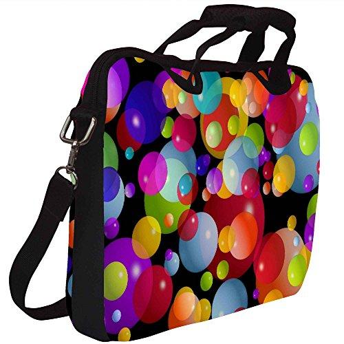 Snoogg Bunte Luftblasen 2606 Gedruckt Notebook-Tasche mit Schultergurt 13 bis 13,6 Zoll
