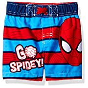 Marvel Baby Little Boys' Spiderman Infant Swim Trunk, Blue, 12M