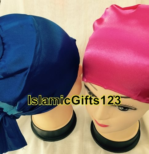 Hijab- Under scarf ACCESSORY,Hijab Caps--6 Pieces--Satin Bonnet,Scarf Caps,Abaya,Nakab*** ISLAMIC GIFTS 123 US Seller***** (Scarf Abaya)