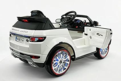 Amazon.com: Range Rover Style Battery Powered 12V Kids Electric Ride-On Car with MP3 Player, FM Radio, LED Wheels with Full Function Parental Remote ...