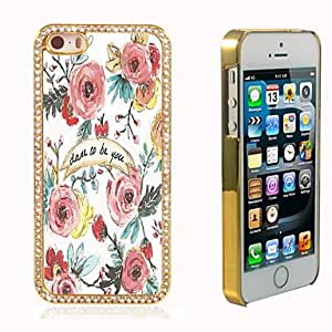 iPhone 5S Case, WKell Dare to Be You Design Luxury Hybrid Bling Glitter Sparkle With Crystal Rhinestone Case for iPhone 5/5S