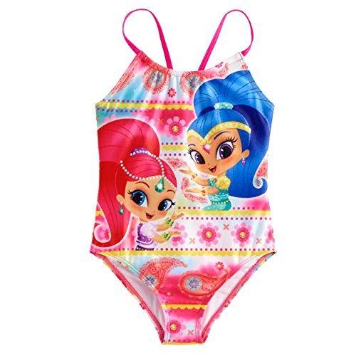Shimmer and Shine Girls Swimwear Swimsuit (6X, Pink)