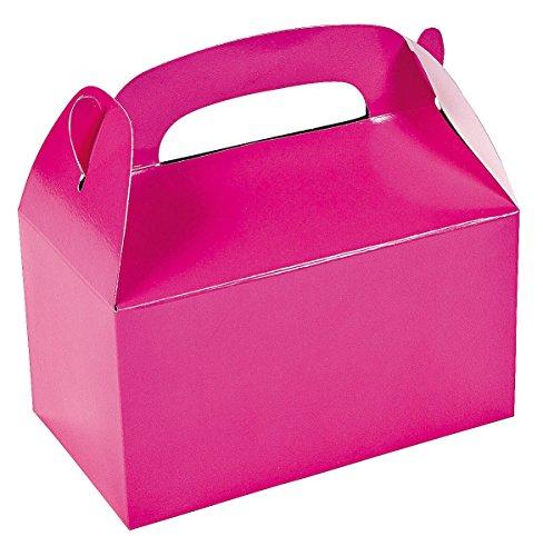 Pink Favor Boxes (Dozen Hot Pink Treat Boxes)