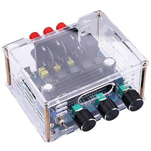 Audio Amplifier Board, Yeeco 2.1 Channel 2x50W+100W Digital Power Amplifier Board Subwoofer DC 12-24V Car Audio Stereo AMP Module Super Bass Power Amplifier Amp Ampli Module DIY Sound System ()