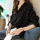 AOJIAN Blouse Women Long Sleeve T Shirt Dots