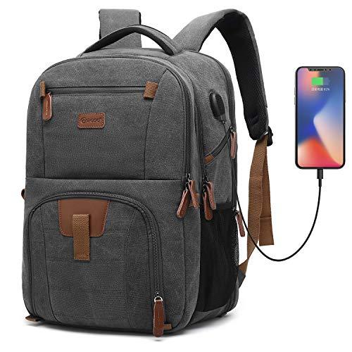 8d841f9963 POSO Laptop Travel Backpack 17.3 Inch Computer Bag with USB Port Business  Rucksack Hiking Knapsack Multi