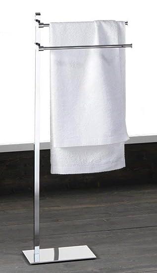 Toallero de pie Perchero portatoallas acero porta toallas ...