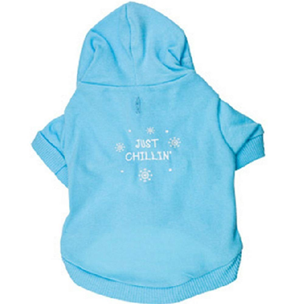 bluee S bluee S Huayue Cotton Hooded Top bluee T-Shirt,Fashion pet T-Shirt (color   bluee, Size   S)