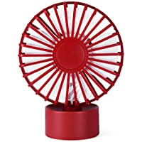 USB Mini Fan,ODGear Small Personal Portable Quiet Laptop Computer Table Desk Fan Cooling Fan for Office Home School and Camping(Red)