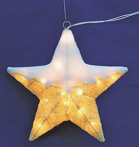 Holiday Basix W12A0089 20-Light Fabric Star Window Light, 16-Inch