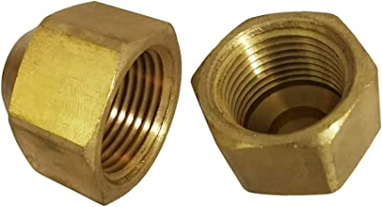 Pack of 5 Cap Vis Brass CA360 Flared Tube Fitting SAE 45 Degree Flare 3//8 Tube OD
