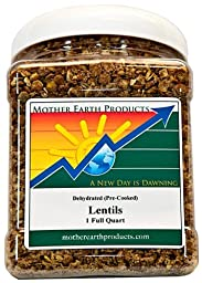 Mother Earth Products Dehydrated Lentils, Quart Jar