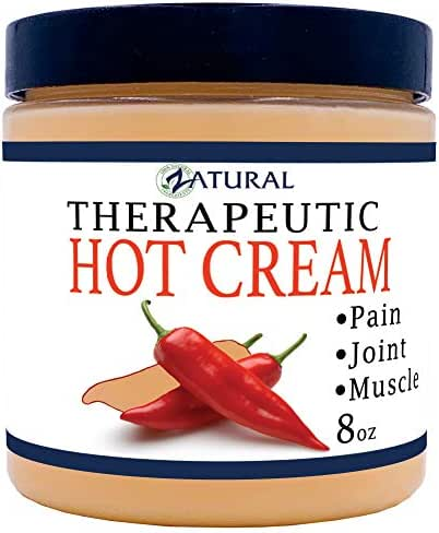 Organic Hot Cream-Cellulite Cream-Muscle Rub-Slimming Cream-Pain Relief-Body Wraps-Belly Fat-Skin Firming & Weight Loss-Professional Therapeutic Grade-Doctor Formulated (8 Ounce)