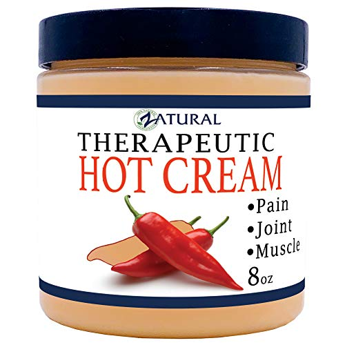 Organic Hot Cream-Cellulite Cream-Muscle Rub-Slimming Cream-Pain Relief-Body Wraps-Belly Fat-Skin Firming & Weight Loss-Professional Therapeutic Grade-Doctor Formulated (8 Ounce) (Best Stomach Toning Cream)