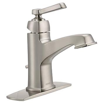 Moen 84805srn Single Handle Single Hole Bathroom Faucet From The