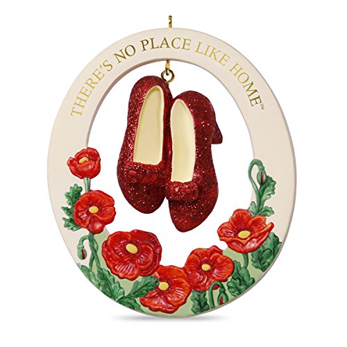 Place Like Home Wizard - Hallmark Keepsake 2017 THE WIZARD OF OZ THERE'S NO PLACE LIKE HOME RUBY SLIPPERS Porcelain Christmas Ornament
