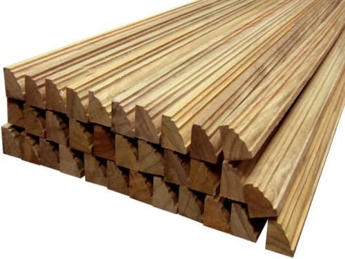 12 elegant solid teak wood linear feet of 100/% heartwood TEAK moldings 7//8