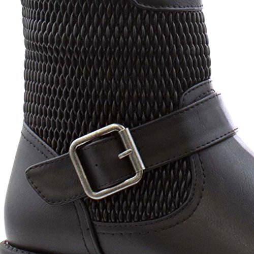 Lilley Womens Black Quilted Back Long Leg Boot Black oMvtgI7yP