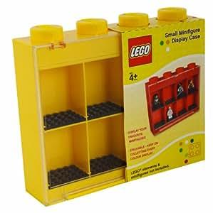 Sablon Lego 107-005-3 - Caja de exposición para figuras Lego (8 huecos), color amarillo