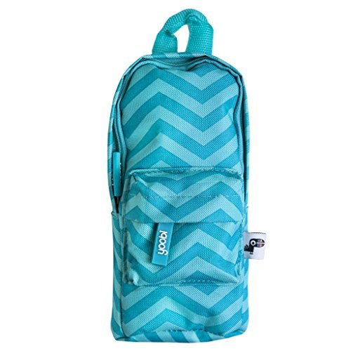 (Yoobi Mini Backpack Pencil Case (Blue Chevron))
