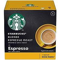 Starbucks by Nescafé Dolce Gusto, Blonde Espresso Roast 12 Cápsulas, 12 piezas