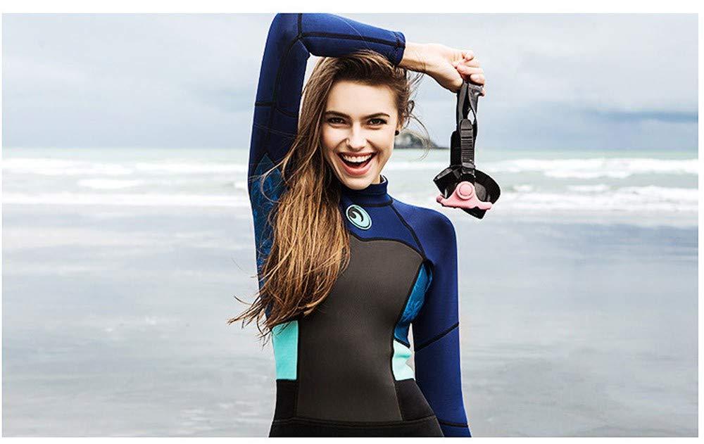 MILIMIEYIK Women's 1.5mm Neoprene Wetsuits Jacket Long Sleeve Wetsuit Top Diving Spearfishing Suit Swimwear Black by MILIMIEYIK (Image #3)