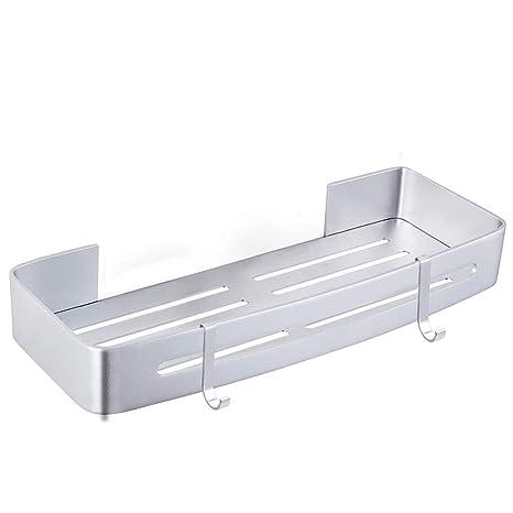 Hoomtaook Estante de baño, Cesta para ducha, Almacenamiento, Organizador sin clavos, Sin