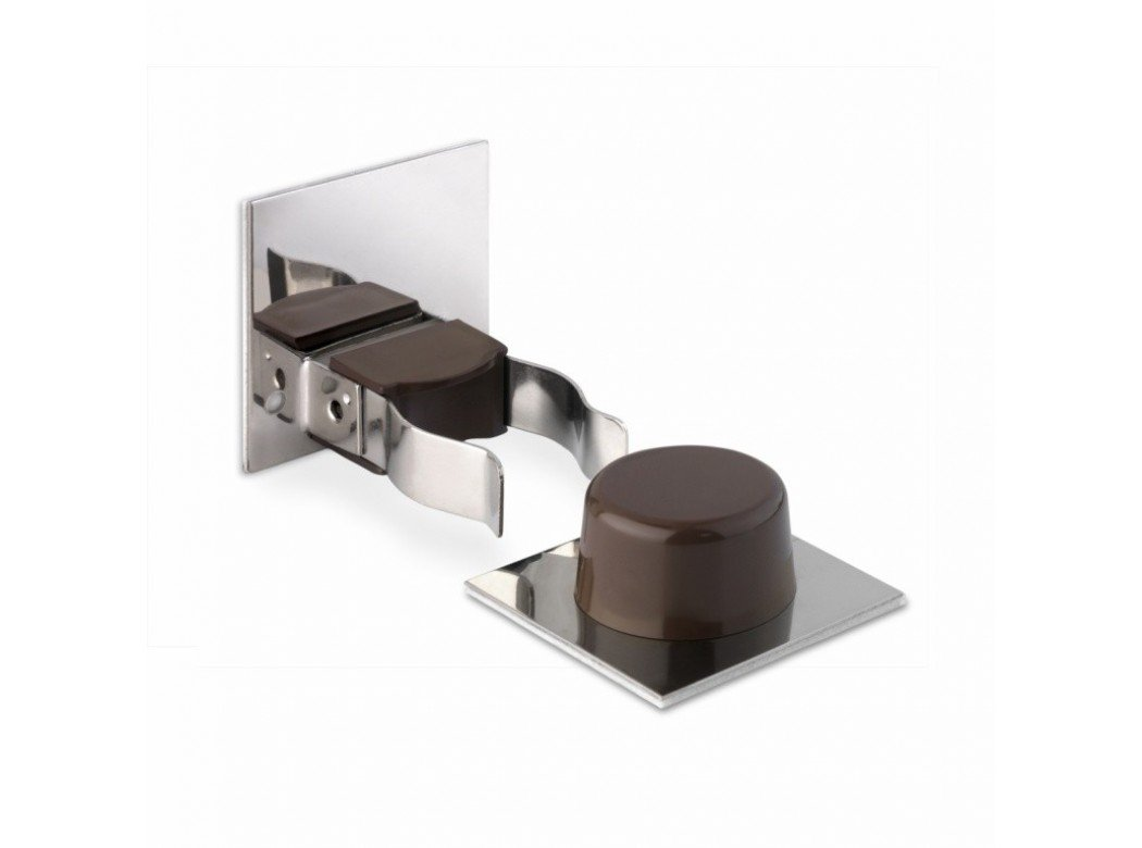 Inofix M88634 - Tope puerta y retenedor adhesivo marron