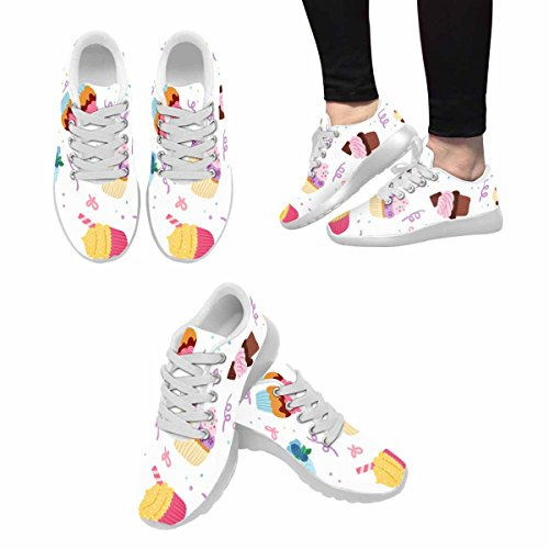D-Story Jogging Running Sneaker Sweet Cake Womens Casual Comfort Sports Walking Running Shoes White F0MJt9D