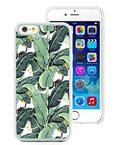 Iphone 6 Cases Custom Design Milly Banana Leaf 02 Cell Phone Tpu Cover Case for Iphone 6 4.7 Inch White