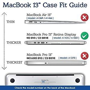 Tecool Custodia MacBook PRO 13 Retina Case Cristallo Chiara Plastica Case Cover Rigida Copertina con Copertura della Tastiera in Silicone per MacBook PRO 13.3 Pollici Retina Modello A1502/ A1425