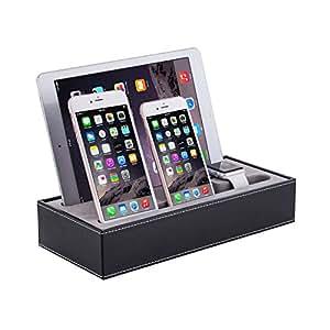 Apple Watch & iPhone Stand, Amytech acrílico de carga estación de puerta Escritorio Cuna con ángulo de visión cómodo para Apple iWatch, iPhone SE/6S/6S Pi š '/6/6Plus/5S