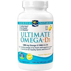 Nordic Naturals - Ultimate Omega-D3, Supports Healthy Bones and Immunity, 120 Soft Gels (FFP)