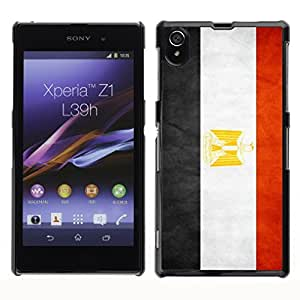 Shell-Star ( National Flag Series-Egypt ) Snap On Hard Protective Case For SONY Xperia Z1 / L39H / C6902 / C6903 / C6906