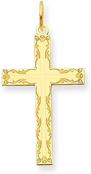 Jewels By Lux 14K Yellow Gold Polished Latin Cross Pendant