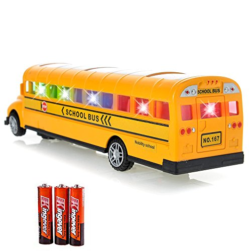 Toysery Playtime Bus School Bus Toy With Beautiful Attractive Flashing Lights and Sounds , Bump and Go Action Batteries Included