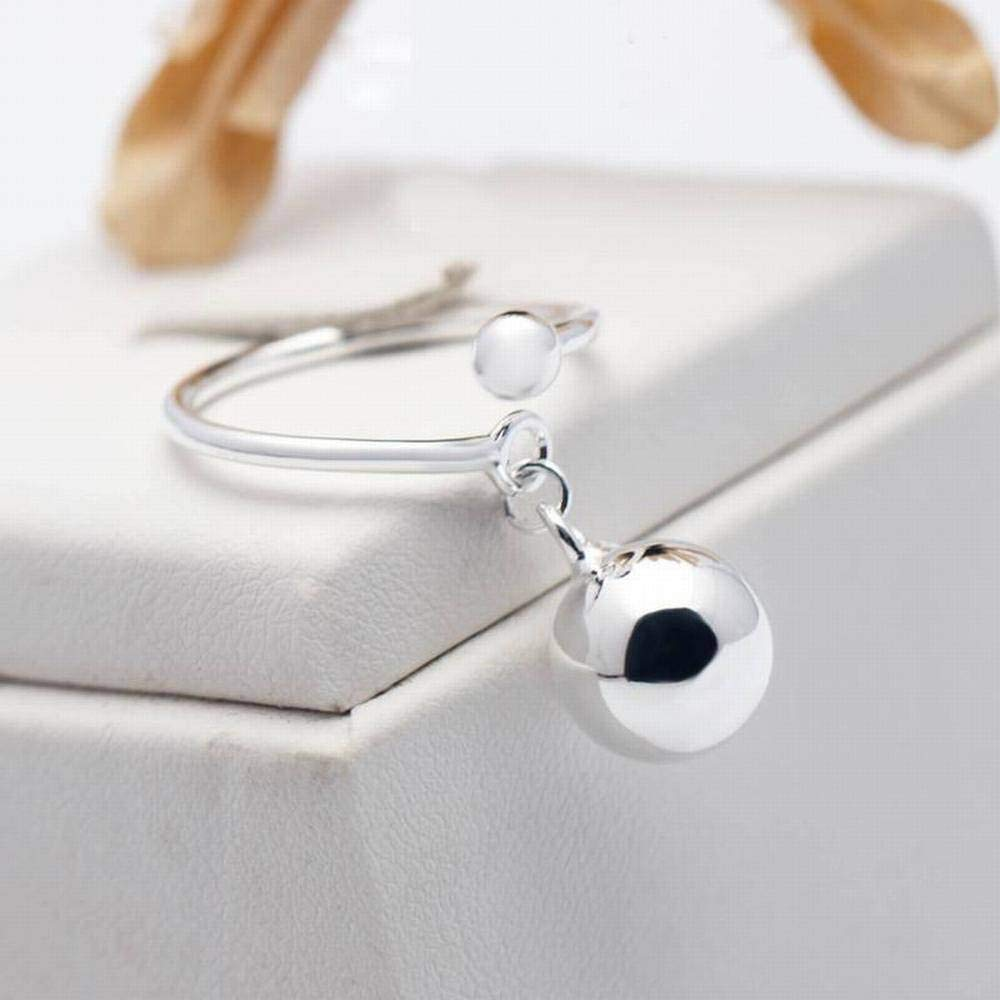 10Mm Palla YTTY S925 Silver Ring Personality Light Pearl Ball Hanging Ring Ring Open Dito Indice Femminile