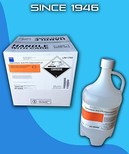 Hydrochloric Acid 37% Reagent Grade for High Purity Aqua Regia (Gallon)