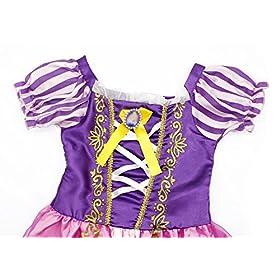 - 51faa2UTNnL - Cotrio Rapunzel Dress Up for Girls Halloween Princess Costume Birthday Theme Party Dresses