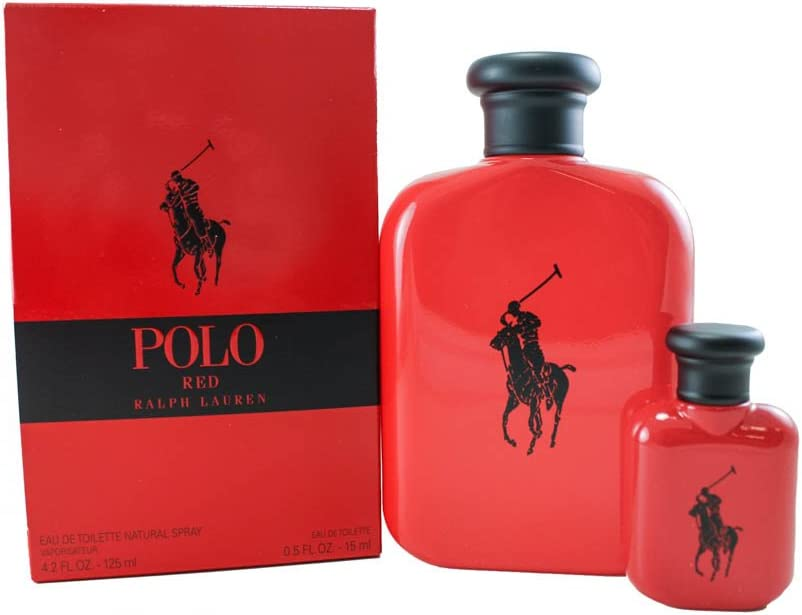 Polo Red by Ralph Lauren Gift Set - 4.2 oz Eau De Toilette Spray + ...