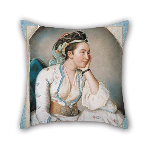 Artistdecor 16 X 16 Inches / 40 By 40 Cm Oil Painting Jean-Étienne Liotard - A Woman In Turkish Dress Throw Pillow Case ,both Sides Ornament And Gift To (Bugs Bunny Female Adult Costume)