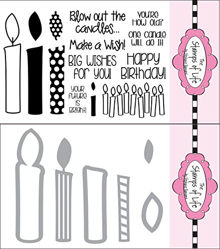 The Stamps of Life Clear Stamps & Dies, candle4birthday and Candle Die Set