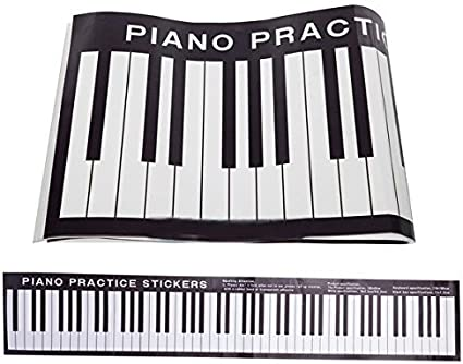 Amazon Com New Piano Practice Keyboard Sticker 88 Keys On Desk