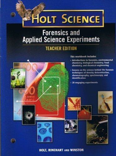 scientific method applied to forensic science 590 The ability to use scientific methods is a critical skill in problem solving and  forensic science an investigator will use scientific methods to analyze evidence, .