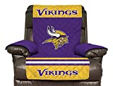 NFL Minnesota Vikings Recliner Reversible Furniture Protector with Elastic Straps, 80-inches by 65-inches