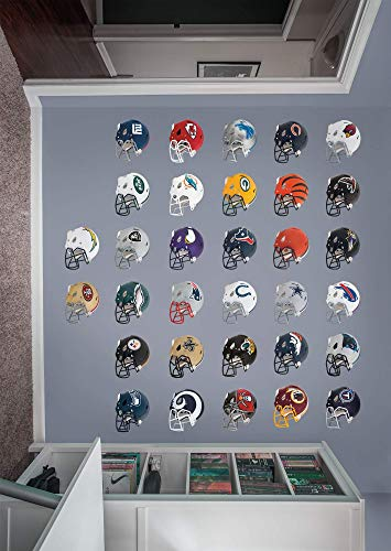 FATHEAD NFL League Logo NFL - Helmet Collection- Officially Licensed Removable Wall Decals, Multicolor, Giant