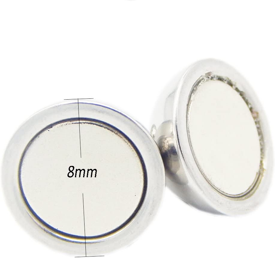 REKYO 20sets Armband Verschluss Schmuck Runder Verschluss Magnetverschluss Kette Halsketten Verschluss Or 6mm